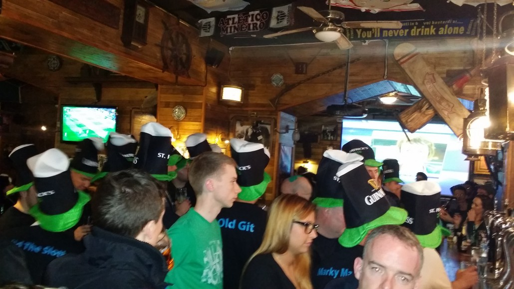 Saint Patricks day irish pub