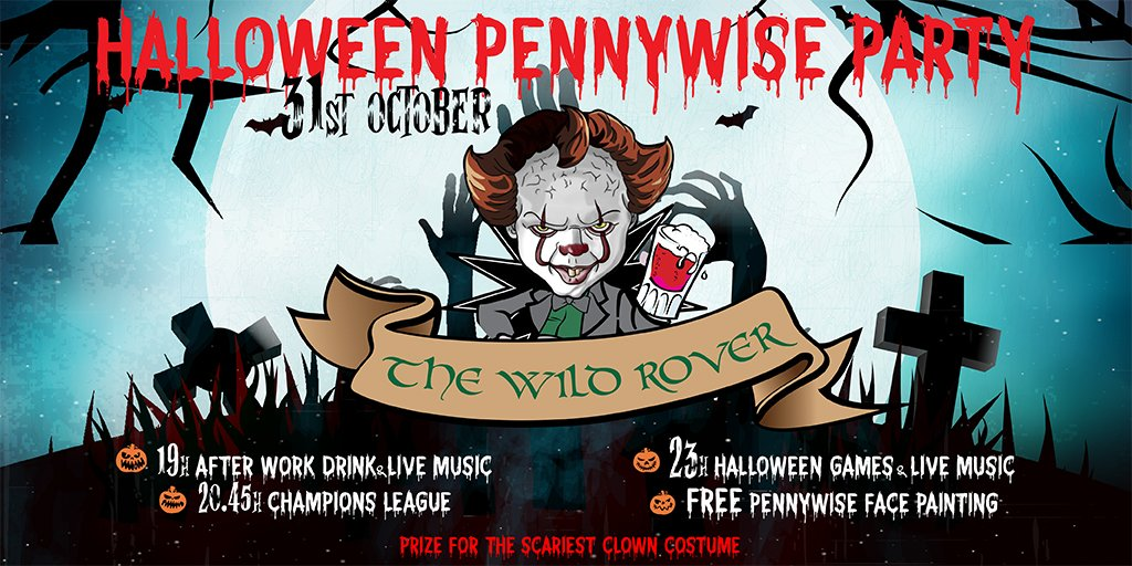 Halloween Party in Wild Rover Barcelona