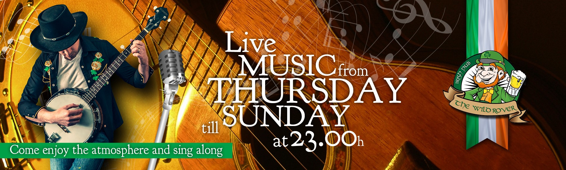 Live music from thursday till sunday at 23.00. Come enjoy the atmosphere and sing along